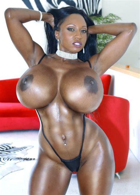Big black massive tits