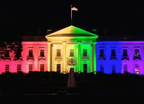 white house lights the white house lights up in pride colors to celebrate marriage equality uinterview