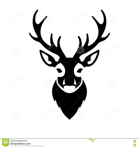 deer head icon vector logo stock vector image 48732860