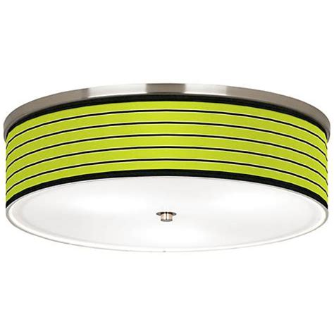 Lime Green Ceiling Light Bold Lime Green Stripe Nickel 20 1 4 Quot Wide Ceiling Light J9213 K1480 Ls Plus