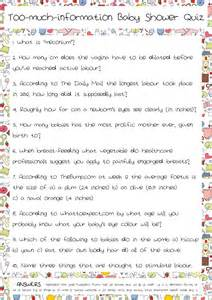 Baby Shower Trivia Printable by Baby Shower Quiz Part 2 Josie Robson S Brain Froth