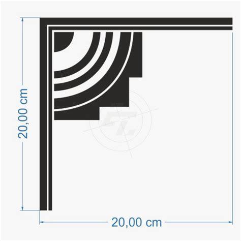 Design Aufkleber by Aufkleber Schmuckecke Design Streifen Mit Viertelkreisen