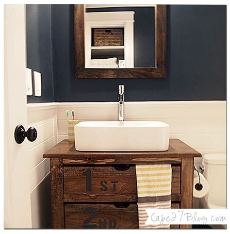 Navy Bathroom Vanity Benjamin Hale Navy Guest Bath