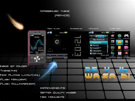 xpressmusic themes xpressmusic theme for a2v1 by devilwasabi on deviantart