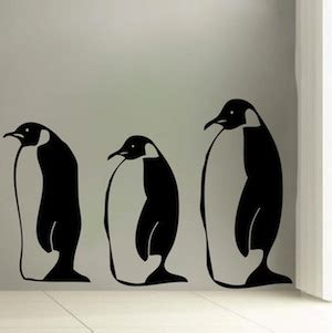 penguin wall stickers penguin wall decals from trendy wall designs