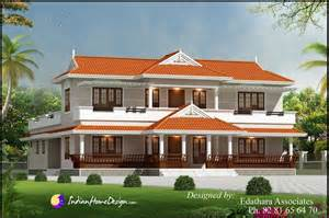 Kerala Home Design Double Floor by Kerala Style 2288 Sqft Villa Design Traditional Double
