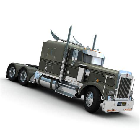 kenworth w900 model 3d model w900 truck