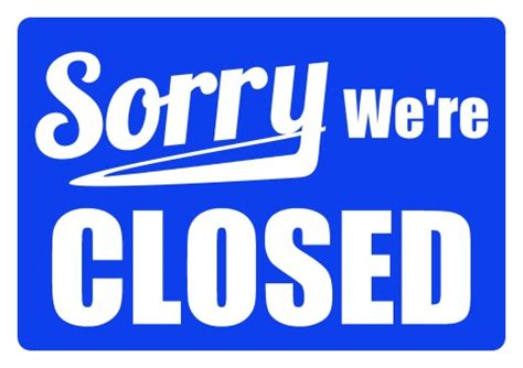 Business Signs Closed For Holidays Pictures To Pin On Pinterest Pinsdaddy Closing Signs Templates