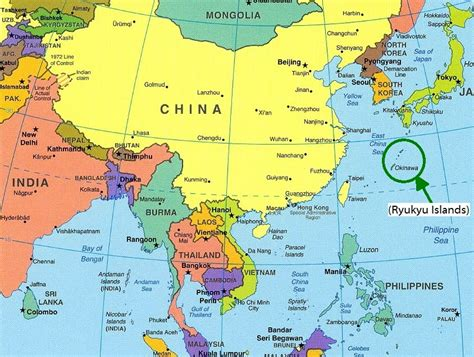 labelled map of asia labeled map of east asia mexico map