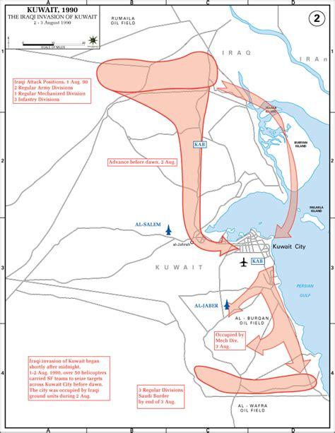 kuwait iraq map department of history gulf war