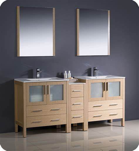 bathroom vanity with side cabinet fresca fvn62 301230lo uns torino 72 quot sink modern