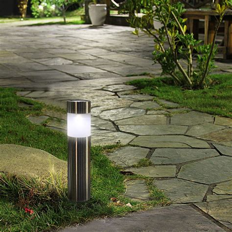 Solar Bollard Garden Lights Iron Blog Outdoor Solar Path Lights
