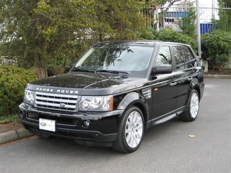 land rover 2007 black 2007 land rover range rover sport information and photos