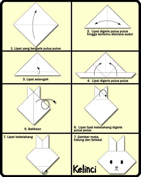 membuat origami sederhana untuk anak paud cara membuat origami kelinci untuk anak