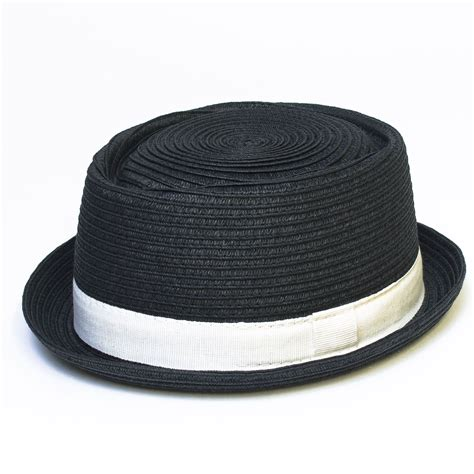 Porkpie Hat 2 mens pork pie porkpie hat cap with band new