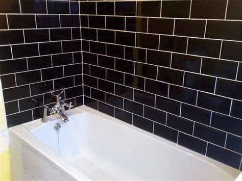 white bathroom tiles with black grout brick with black grout white tiles interior designs