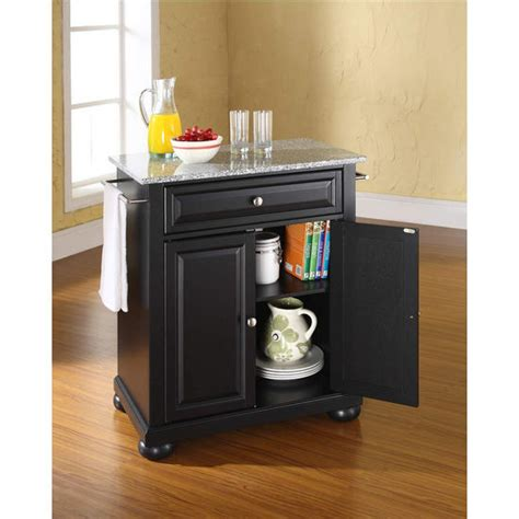crosley alexandria solid granite top portable kitchen crosley furniture alexandria solid granite top portable