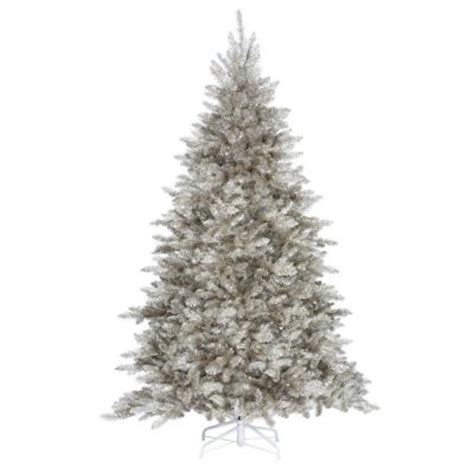 home decorators collection 8 ft indoor silver tinsel
