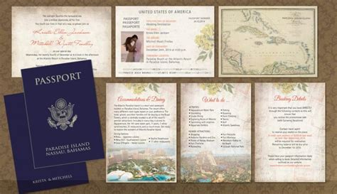 wedding passport template passport wedding invitation booklets real passport