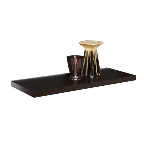 Espresso Floating Shelf southern enterprises aspen floating shelf in espresso en8101