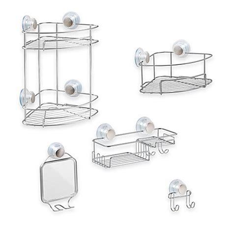 bathroom shower accessories interdesign 174 turn n lock suction shower accessories bed bath beyond