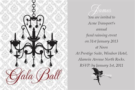 Gala Invitation Card Template by Gala Dinner Invitation Best Ideas
