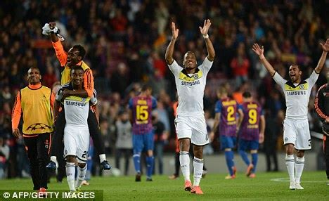 against all odds its chelsea 1 barcelona 0 in pictures chelsea can inspire us says sam allardyce daily mail online