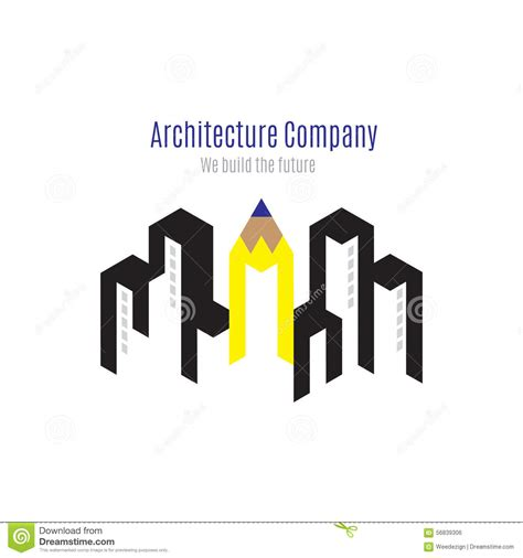 architect companies vector architecture company logo with building and