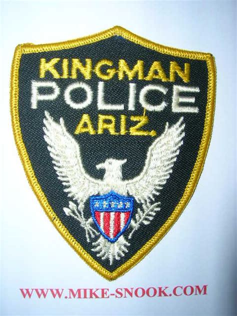 kingman police department mike snook s police patch collection state of arizona