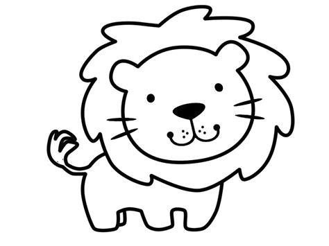 imagenes de leones animados para colorear imagenes p 225 ra colorear de animales muy divertidos