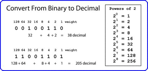 calculator binary to decimal binary to decimal conversion exercises with answers how