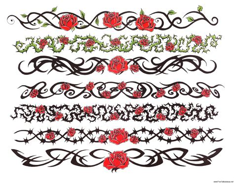rose band tattoo armband tattoos