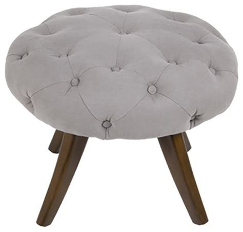 Tufted Ottoman Stool Tufted Ottoman Stool Footstools And Ottomans By
