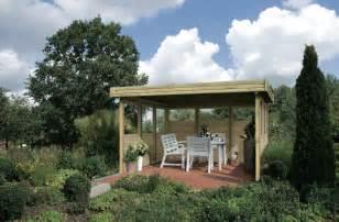 garten pavilion holz pavillon mit modernen flachdach offen gartenpavillon