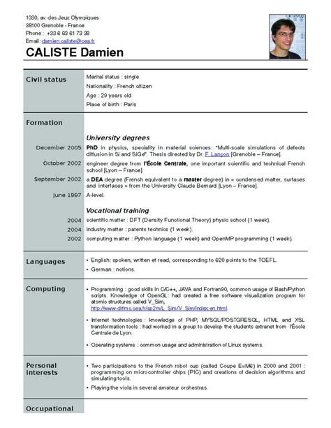 new resume format resume format free it resume cover