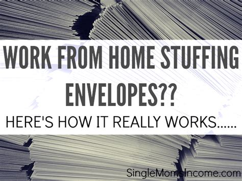 is working from home envelopes legit here s how