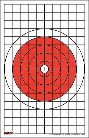 printable grid shooting targets rifle paper targets pistol paper targets ez2ctargets