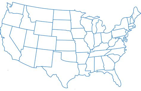 printable us state map blank blank printable map of the united states clipart best