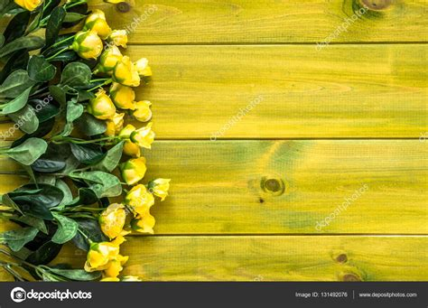 Wedding Invitation Background Yellow by Yellow Roses On Wooden Background Flowers Frame For