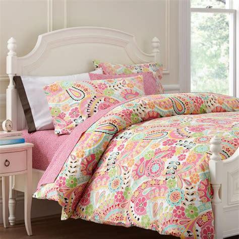 pb teen bedding paisley pop duvet cover pillowcases pbteen