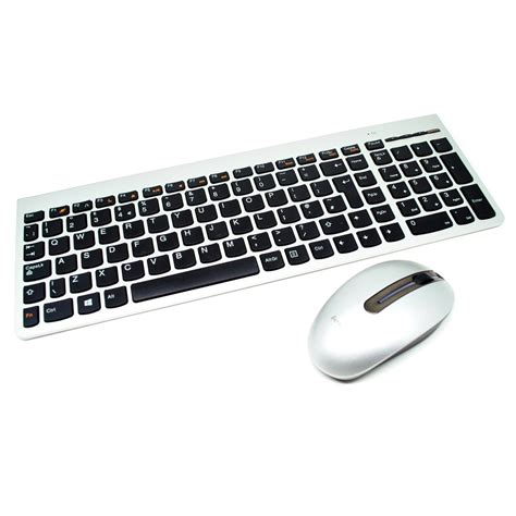 Keyboard Wireless Surabaya lenovo ultraslim plus wireless keyboard and mouse sm 8861
