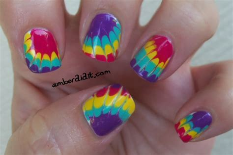 nail art tie dye tutorial amber did it more tie dye nails and a tutorial
