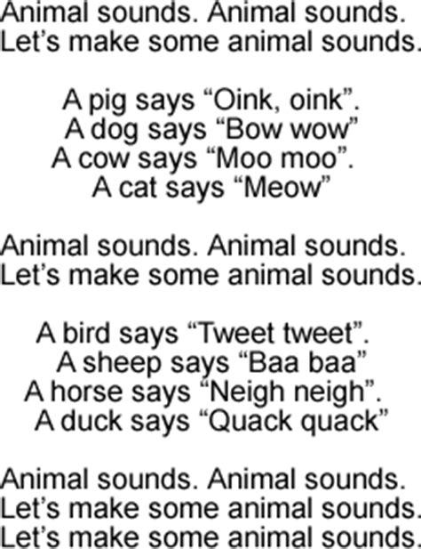 animal sounds song lyrics  sound clip