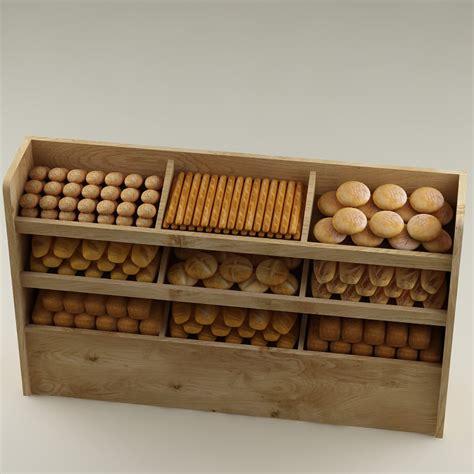 3d model bread shelf