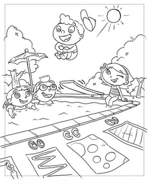 bunnytown coloring page little einsteins coloring book drawings frank summers