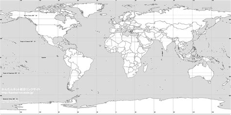 large blank world map