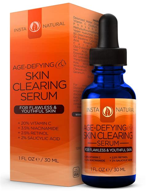 Serum Moreskin instanatural vitamin c serum 20 with retinol salicylic acid hyaluronic acid
