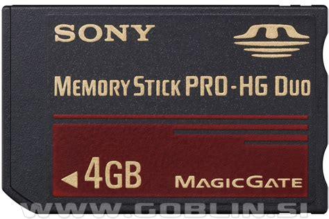 Memory Stick Pro Duo Sony 4gb spominska kartica sony memory stick pro hg duo 4gb