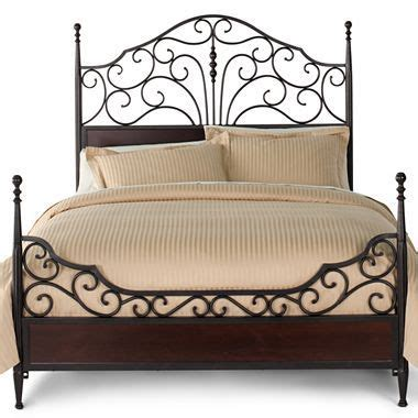 jcpenney bed frames newcastle bed brown warm cherry