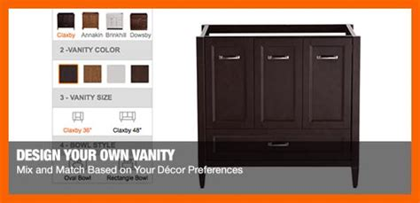 home depot create your own vanity bath ideas how to guides at the home depot